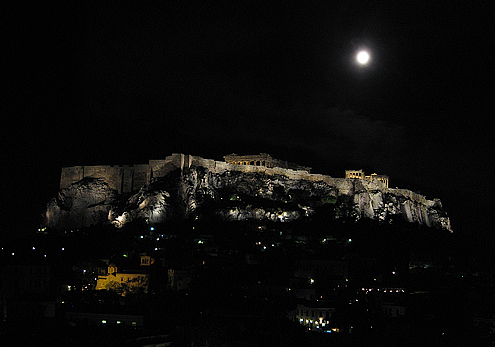 Moon Over Athens ©2009 Charlene Nevill